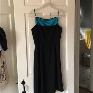 Tahari fitted black dress Size 8